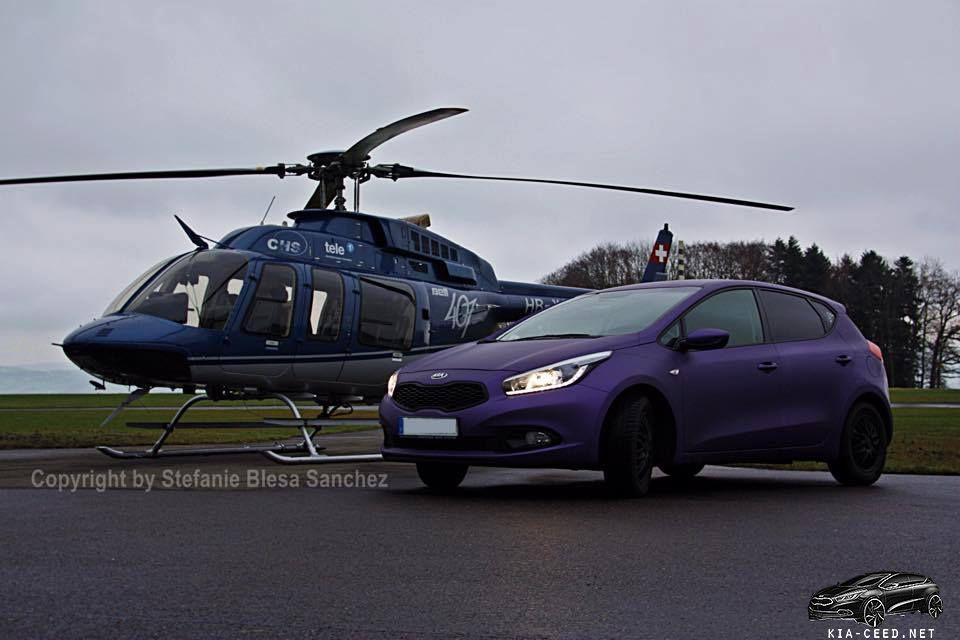 KIA Ceed и вертолет