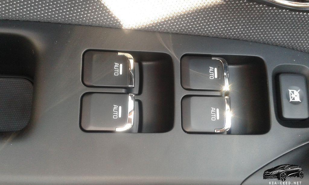 кнопки управления KIA CEED 2016 модельного года