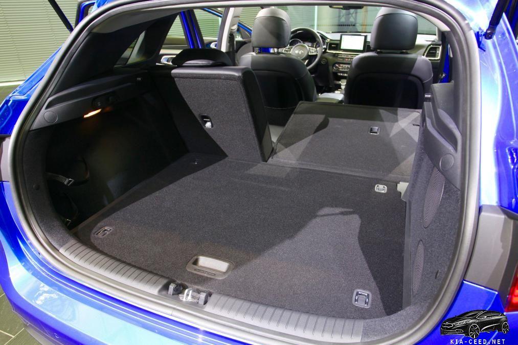 складывание задних сидений ceed 3 (2019)